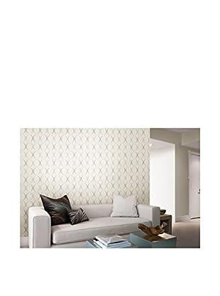 Circulate Retro Orb Wallpaper, White