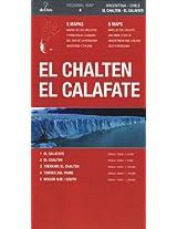 El Calafate - El Chalten / Argentina - Chile: 5 Mapas de los circuitos y principales ciudades del sur de la Patagonia Argentina y Chilena / 5 Maps of ... Main Cities of Argentinean an (Regional Map)