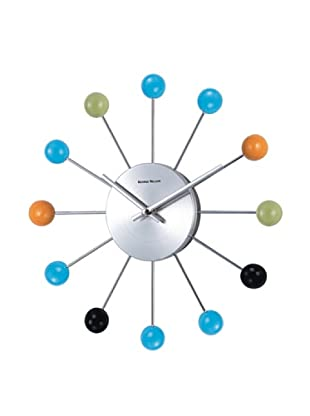 Verichron Atomic Ball Wall Clock (Multi/Silver)
