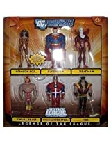 Dc Universe Justice League Unlimited Legends Of The League Action Figure 6 Pack (Crimson Fox, Superman, Deadman, B Wana Beast, Commander Steel And Vibe)