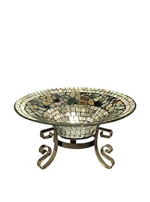 Dale Tiffany Mosaic Décor Bowl, Silver