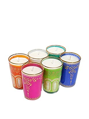 Market Street Candles 6-Pack of Moroccan Candles, Assorted
