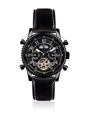 Hindenberg Reloj automático Man Hindenberg 230-H Air Pvd Black Leder Negro 42 mm