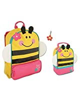 Stephen Joseph Girls Bee Sidekick Backpack, Lunch Pal and Zipper Pull for Kids
