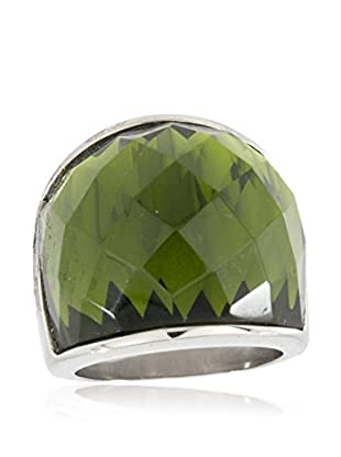 Lucy Steel Ring Glass