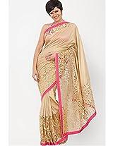 Mandira Bedi Cream Saree At Day 2 LFW Summer/Resort 2014