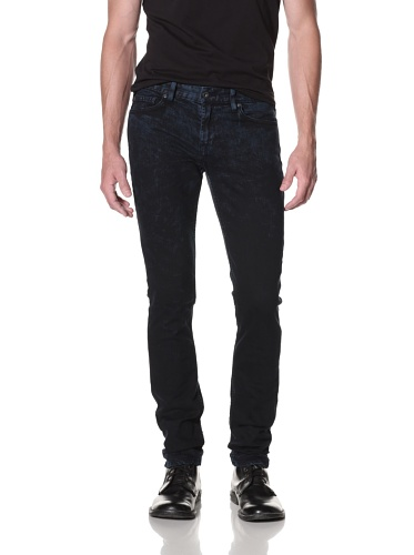 Kill City Men's Skinny Wire Fit Jean (Black/Blue)