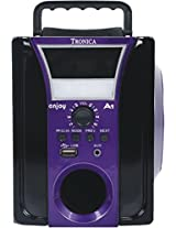 TRONICA-Enjoy mp3/usb/SDcard/mobile/aux supported speaker with rechargeable battery & emergency light