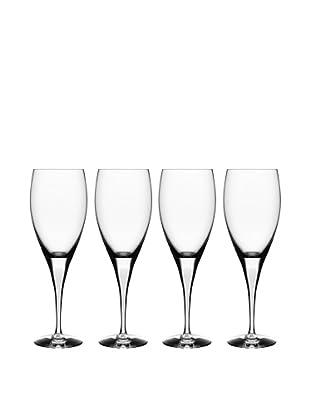 Orrefors Set of 4 Intermezzo Red Wine Glasses