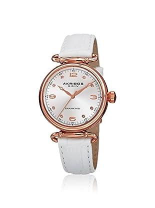 Akribos XXIV Women's AK878WTR Velvet White Leather Watch
