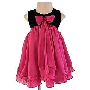 Faye Black & Fuchsia Layered Dress