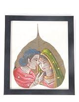 Creative Box Leaf Painting - Royal Couple On White Background