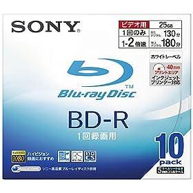 Sony BD-R 25GB 録画用 2倍速対応 追記型 5mmスリムケース 10枚パック10BNR1VBNS2: エレクトロニクス