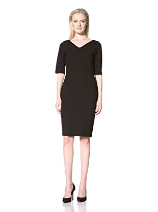 Les Copains Women's Fitted Dress with Seaming Detail (Black)