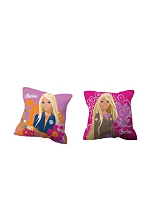Euromoda Licencias Cojín con Relleno Barbie  1 (Multicolor)