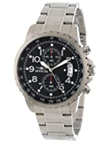 Invicta Men's 13783 Specialty Chronograph Black Dial Stainless Steel Watch