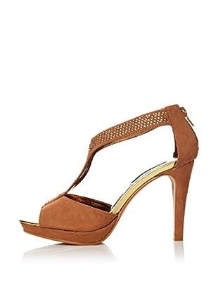 Alex Silva Sandalias Ankle Strap T-Bar 2-Parts (Camel)