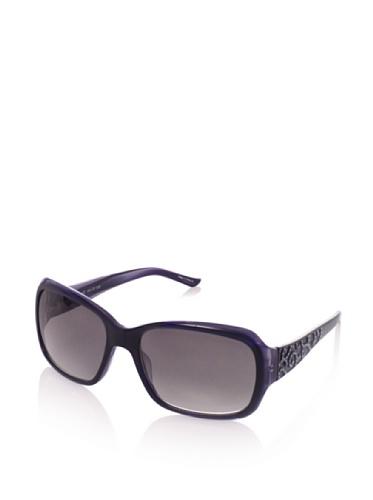 Judith Leiber Women's JL1045A 05 Moroccan Square Sunglasses (Sapphire/Smoke)