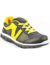 Provogue Grey And Yellow Men Sports Shoes PV1062