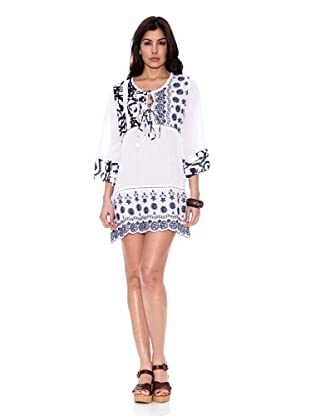 HHG Vestido Gabrielle (Blanco / Marino)