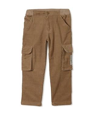 Monster Republic Boy's Cord Cargo Pant (Brown)
