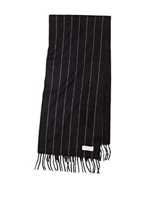 Joseph Abboud Men's Pinstripe Scarf (Black)
