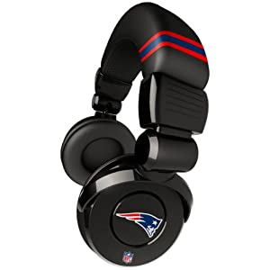 iHip Official NFL - New England Patriots - Noise Isolation Pro DJ Quality Headphone