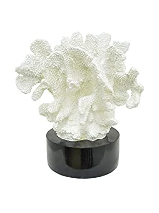 Three Hands Decorative Resin Coral II, White