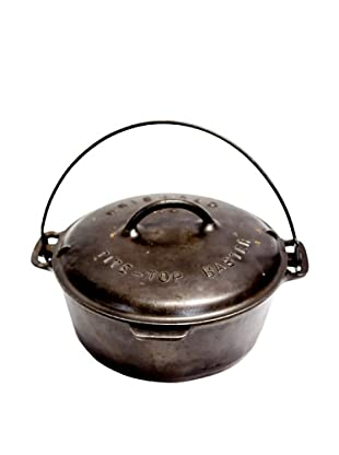 Vintage Griswold Cast Iron Round Dutch Oven, c. 1900s