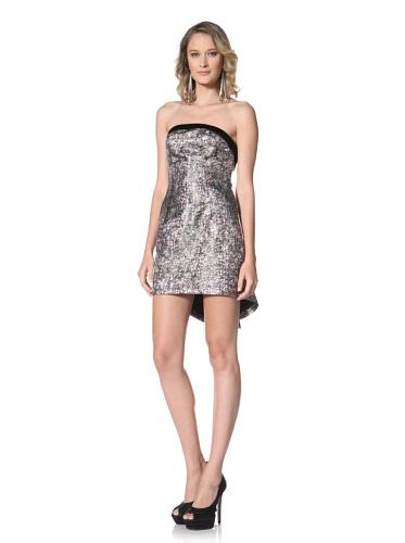 Paul & Joe Women's Reine Strapless Metallic Mini Dress (Black)