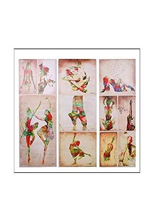 ENCUENTRA TU ESTILO Leinwandbild 2 er Set Ballerina