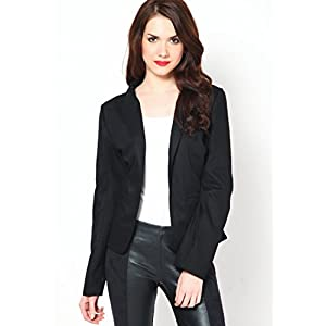 Black Solid Winter Jackets
