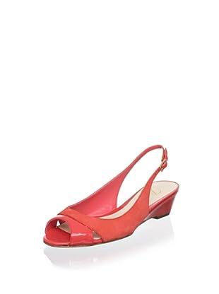 Delman Women's Capri Wedge Sandal (Coral)