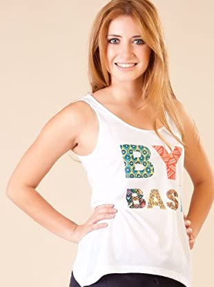 By Basi Camiseta Print (blanco)