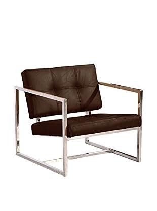 Kardiel Modern Cube Chair, Cocoa