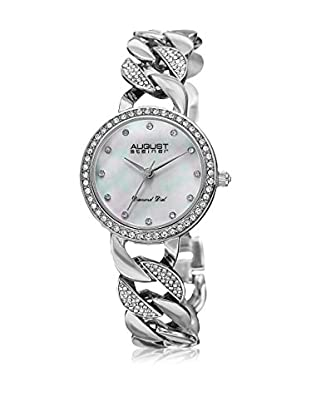 August Steiner Reloj con movimiento cuarzo japonés Woman AS8190SS Silvertone