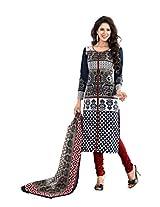 Suhanee Womens Cotton Unstitched Dress Material (Jasmine-4601 _Black)