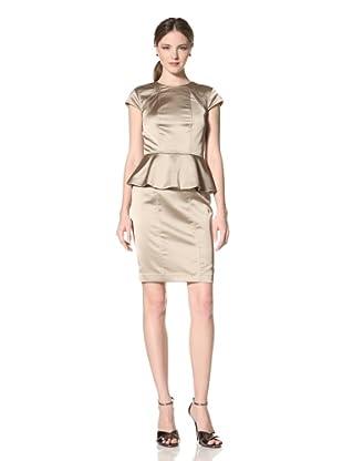 Marc New York Women's Short Sleeve Peplum Dress (Tea)