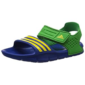 adidas Unisex Brz Akwah 8 K Blue, Green and Yellow Rubber Sandals and Floaters - 1 Uk