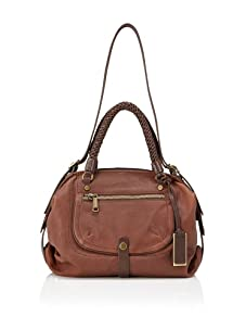 Gryson Women's Skye Pocket Core Leather Satchel (Chocolate)