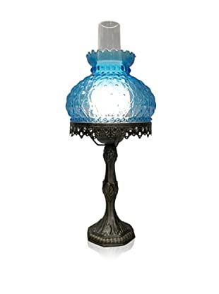 Dale Tiffany Small Blue Hurricane Table Lamp