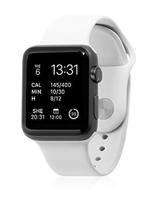 UNOTEC Uhrenband für Smartwatch Sport Apple Watch 38 mm weiß