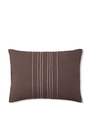 Vera Wang Ribbon Stripe Decorative Pillow, Mocha, 12