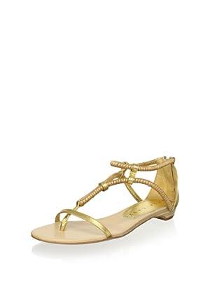 Lola Cruz Women's Flat Sandal (Oro)