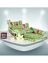 Trident 9 Pc Floral Border Towel Set