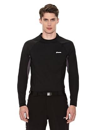Goritz Camiseta Unisex Térmica Mckinley (Negro / Gris Oscuro)