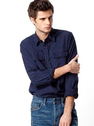 Timberland Camisa Rayas (Azul Marino / Negro)