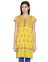 Biba Ladies Cotton Straight Kurta - B00MMEKFB6