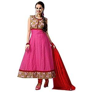 Evelyn Sharma Pink Cotton Anarkali Suit