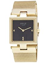 Helix Analog Black Dial Women's Watch - 03HL02